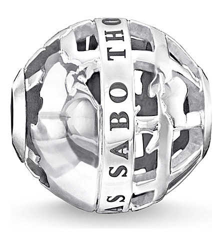 THOMAS SABO Globe sterling silver karma bead