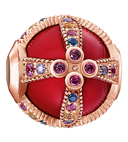 THOMAS SABO Royalty Red rose-gold karma bead