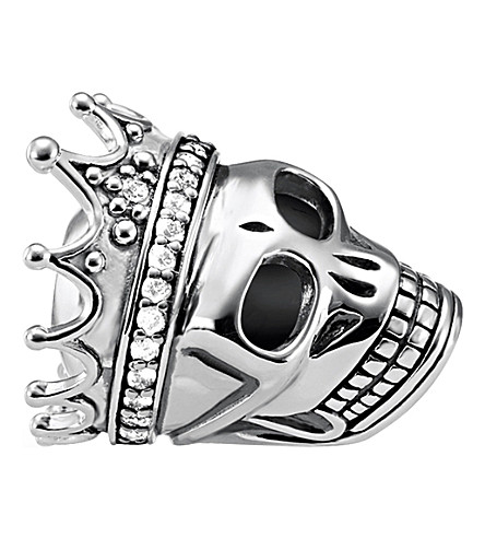 THOMAS SABO Skull Queen sterling silver karma bead
