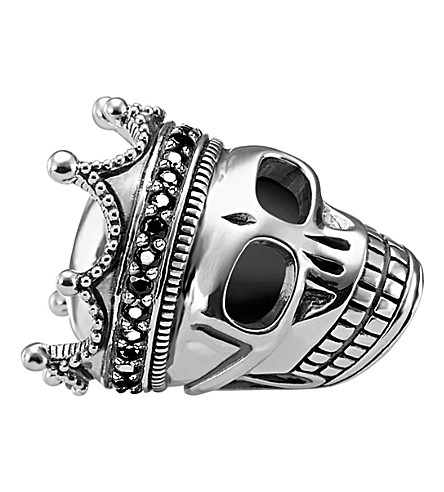 THOMAS SABO Skull King sterling silver karma bead