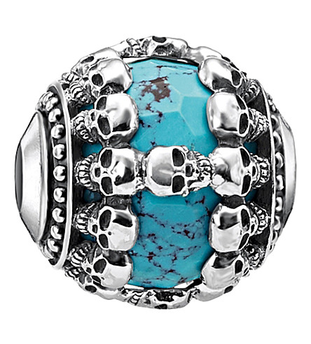 THOMAS SABO Skulls Turquoise sterling silver karma bead