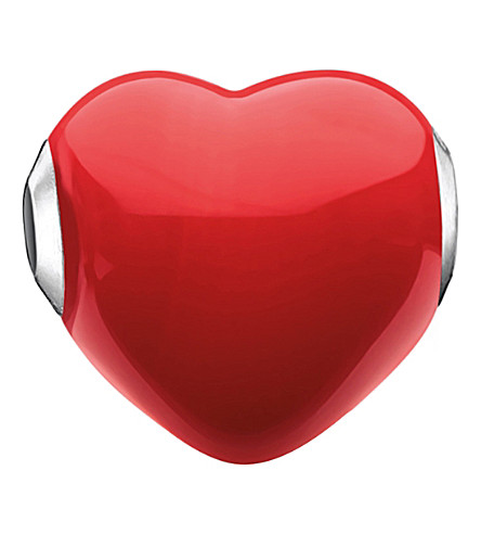 THOMAS SABO Glass Heart sterling silver karma bead
