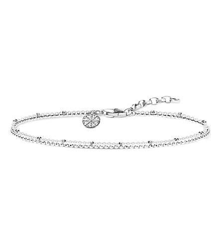 THOMAS SABO Double Karma Wheel sterling silver bracelet