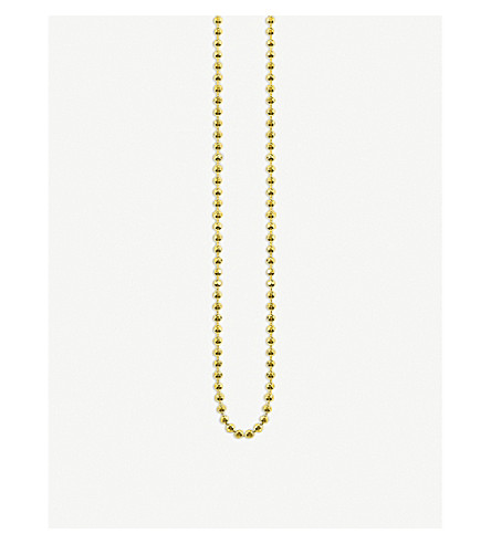 THOMAS SABO Yellow gold ball chain necklace