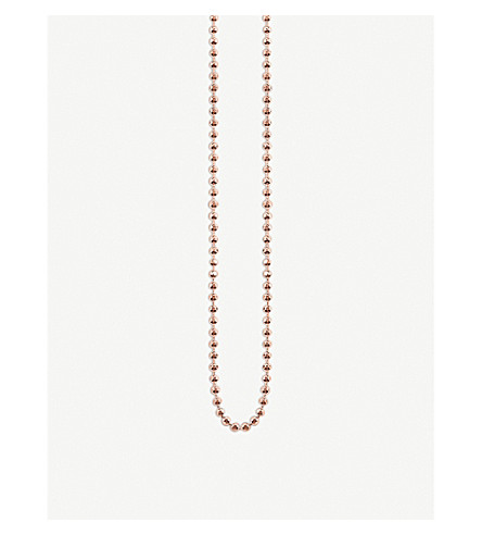 THOMAS SABO Glam & Soul 18ct rose gold-plated ball chain