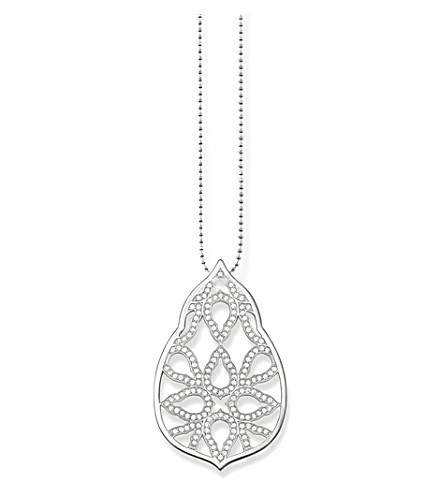 THOMAS SABO Fatima's Garden Oriental sterling silver and white pavé zirconia pendant necklace