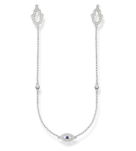 THOMAS SABO Fatima's Garden sterling silver and pavé zirconia station necklace