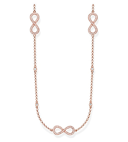 THOMAS SABO Rose gold infinity station necklace