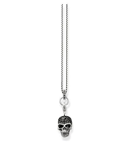 THOMAS SABO Rebel at heart sterling silver skull head necklace