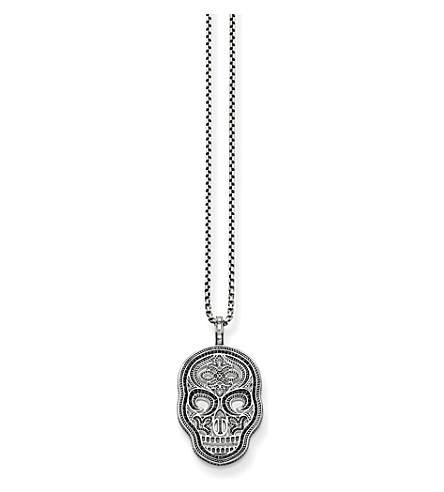 THOMAS SABO Rebel at heart sterling silver skull necklace