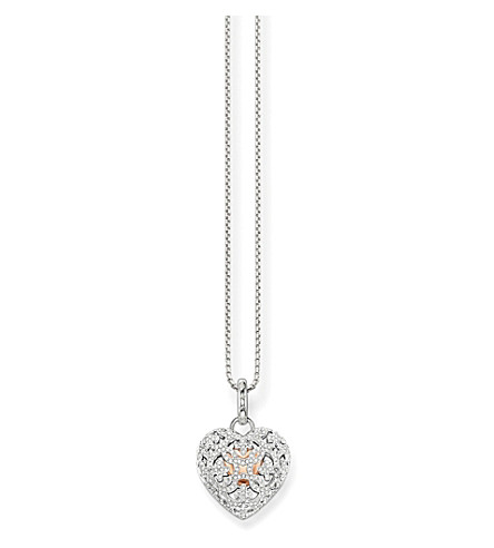 THOMAS SABO Cut-out heart locket sterling silver necklace