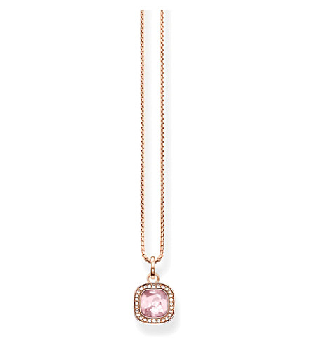 THOMAS SABO Secret of cosmo 18ct rose gold-plated necklace