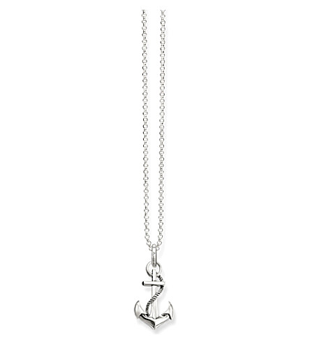 THOMAS SABO Glam & soul arabesque anchor sterling silver necklace