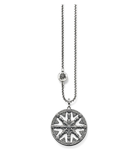 THOMAS SABO Karma beads wheel of karma sterling silver necklace
