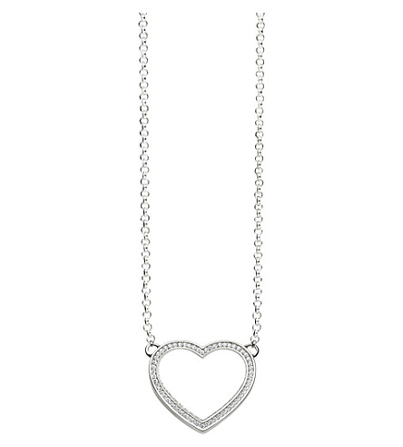 THOMAS SABO Sterling silver heart necklace