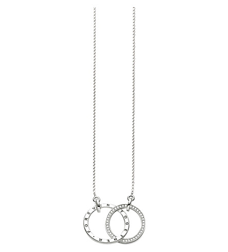 THOMAS SABO Together forever sterling silver necklace