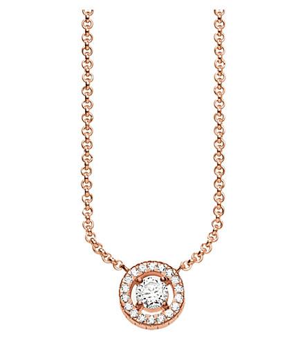 THOMAS SABO 月光18ct 玫瑰镀金纯银项链