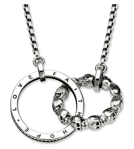 THOMAS SABO Rebel at heart skull sterling silver necklace