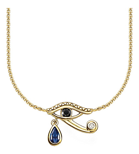 THOMAS SABO Eye of Horus 18ct yellow gold-plated necklace