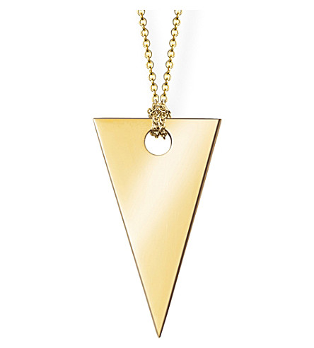 THOMAS SABO 18ct rose gold triangle necklace