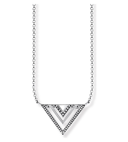THOMAS SABO Africa Triangle sterling silver necklace
