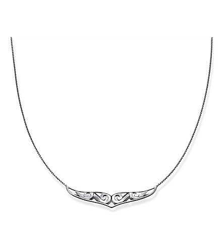 THOMAS SABO Rebel at Heart Maori Whale Fin sterling silver necklace