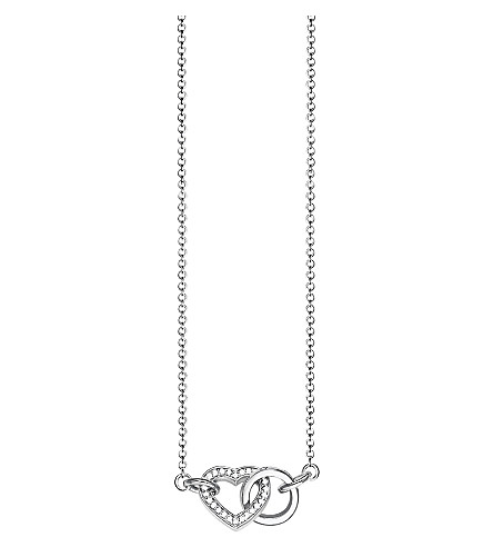 THOMAS SABO Together heart small sterling silver and crystal necklace