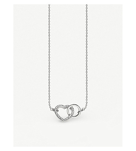 THOMAS SABO Valentines Day Together Forever heart sterling silver necklace