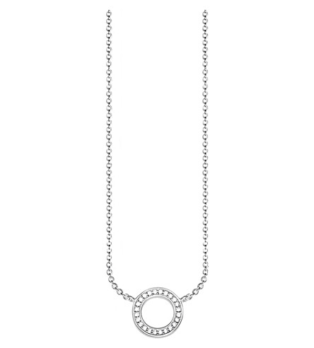 THOMAS SABO Classic circle small sterling silver and zirconia necklace