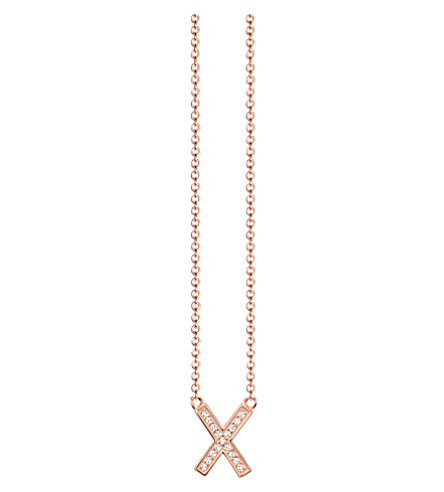 THOMAS SABO Classic x 18ct rose gold-plated sterling silver and zirconia necklace