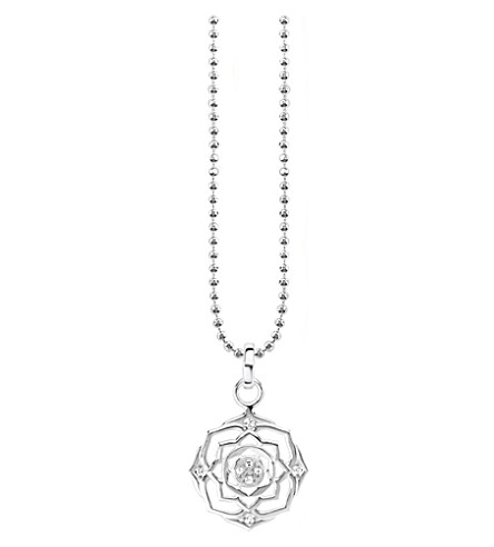 THOMAS SABO Sahasrāra chakra sterling silver and crystal necklace