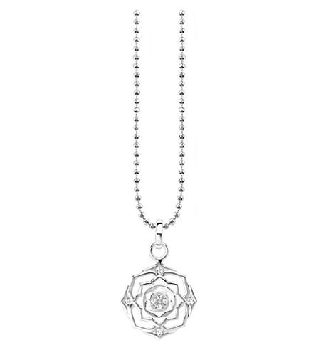 THOMAS SABO Sahasrāra chakra sterling silver and crystal necklace