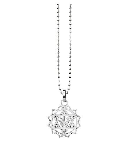 THOMAS SABO Anāhata chakra sterling silver and crystal necklace