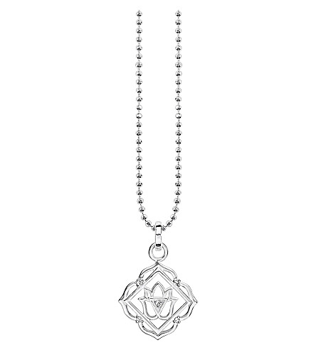 THOMAS SABO Mūlādhāra chakra sterling silver and crystal necklace