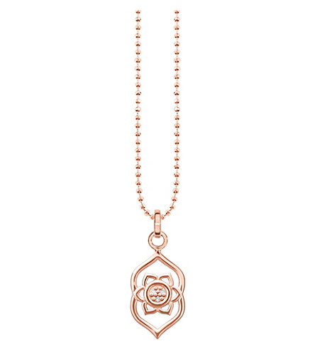 THOMAS SABO Ājñā chakra 18ct rose gold-plated sterling silver and crystal necklace