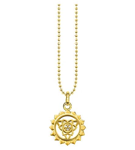 THOMAS SABO Viśuddha 18ct 镀金纯银和水晶项链