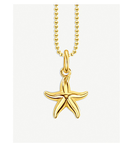 THOMAS SABO Glam & Soul Starfish 18ct gold-plated necklace