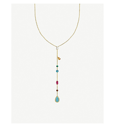 THOMAS SABO Riviera Colours 18ct yellow-gold plated necklace