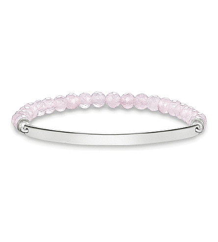 THOMAS SABO Love Bridge sterling silver and pink coral bracelet