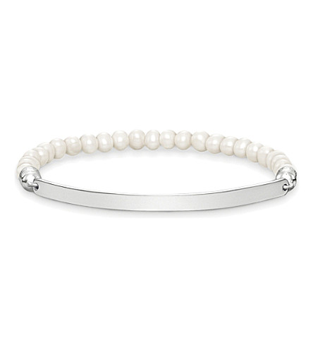 THOMAS SABO Love Bridge sterling silver and pearl bracelet