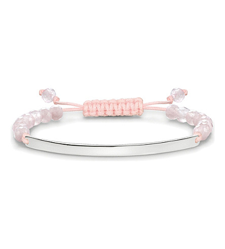 THOMAS SABO Love bridge sterling silver rose quartz bracelet