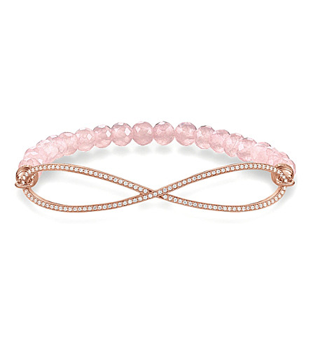 THOMAS SABO Love bridge rose gold, zirconia and quartz infinity bracelet