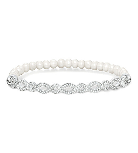 THOMAS SABO Love bridge infinity silver and pearl bracelet
