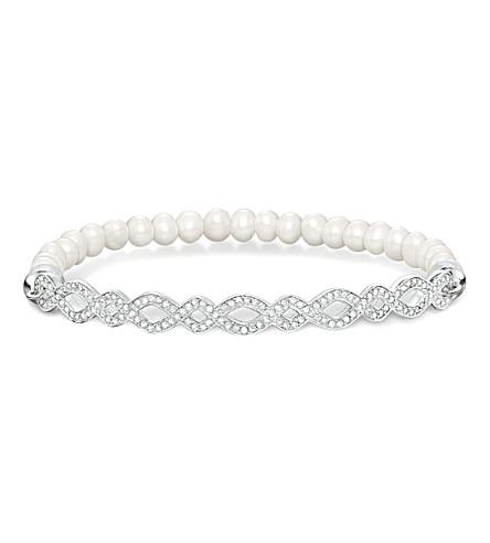 THOMAS SABO 爱桥无限银和珍珠手链