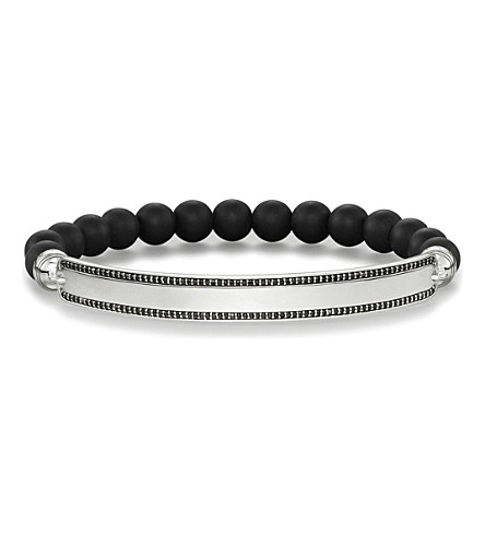 THOMAS SABO Love bridge black obsidian and silver bracelet