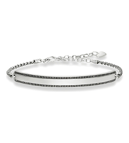 THOMAS SABO Love bridge sterling silver black bracelet