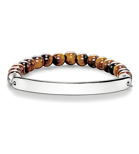 THOMAS SABO Love bridge tigers eye and sterling silver bracelet