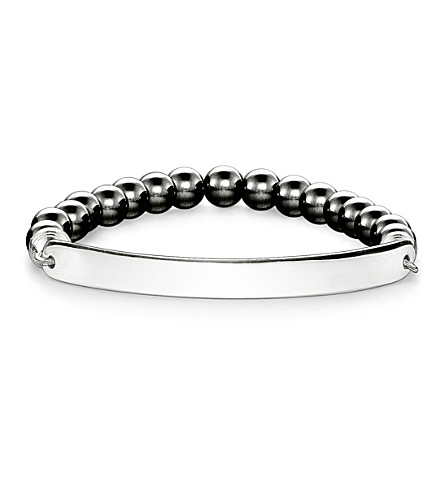 THOMAS SABO Love Bridge engraveable haematite bracelet