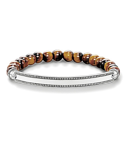 THOMAS SABO Love bridge tiger's eye and silver bracelet