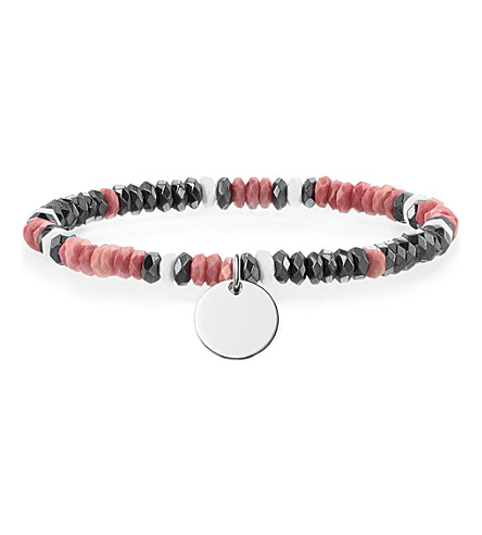 THOMAS SABO Love Bridge sterling silver, haematite, jasper and agate bracelet